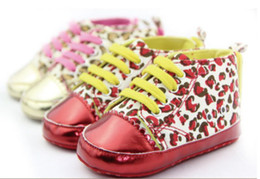 Wholesale high quality Children s Shoes Leopard Print Velcro Non slip Baby First Walker Shoes infant shoes BX20