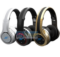 Wholesale 2013 New SMS STREET by DJ PRO Wireless Headphones Bluetooth Headphones EMS Shipping from Flydream