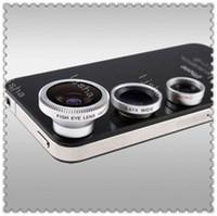 Summer Hot selling 3 in 1 lens 180 degree Fisheye Lens + Mac...