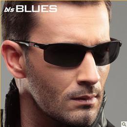 Wholesale Polarizer sunglasses male tide men sunglasses movement cool aluminum magnesium driver driving glasses sunglasses for men