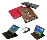 Wholesale 360 Degree Rotating Crocodile Faux Leather Stand Smart Case Cover for New iPad set for case Touch pen Screen Protector
