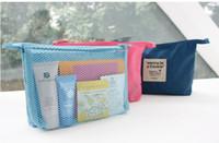 Frete Grátis mulheres Marca Viagem Wash Bag Cosmetic Bag Monopoly malha Pouch bag frete grátis