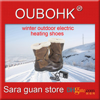 Wholesale Fashion Electric Heated Shoes With Li ion Battery Charger Cold Protection Warmth Retention And Healthcare Safety Boot Freeshipping OUBOHK