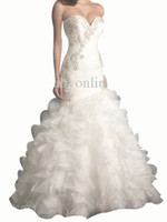 Castle Autumn/Spring Sexy 2014 DHgate Ivory Babyonline Sexy Sweetheart Lace Mermaid Wedding Dresses Beaded Backless Wedding Gown AB9012