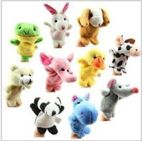 Unisex 3-4 Years Multicolor Children's toy finger toys to tell the vivid story in the forest 10 kinds of animal hand puppet doll