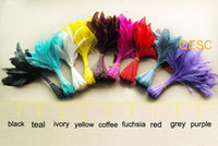 Wholesale cm cocktail feather for fascinator sinamay hat party mask wedding hat colors yello is out of stock