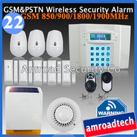 Wholesale GSM PSTN Dual Network DIY Wireless Home Alarm Intruder System w Low Battery Voltage Remind Feature iHome328MG22