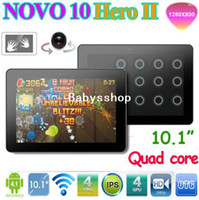 Wholesale Ainol Novo Hero II inch Quad Core Android Tablet PC IPS screen GHz GB Dual Camera C