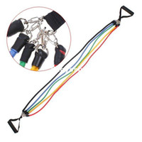 Wholesale 11PC Latex Resistance Bands Fitness Exercise Tube Rope Set Yoga ABS Workout Freeshipping