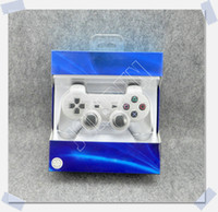 Wholesale New Blue Version Wireless Bluetooth Controller For PS3 Colors Available Real SixAxis Joysticks Factory Sale In Blue retail Box HKEMS Free