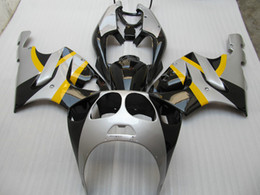 Fit For Kawasaki ZX7R Ninja ZX 7R 1996 - 2003 model ZX7R Silver Yellow Black ABS Fairing 76W19