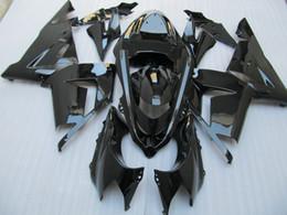 Wholesale Customized paint fairings For Kawasaki Ninja ZX R ZX R ZX10R all glossy Black ABS Fairing kit Set A