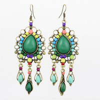 Wholesale Beautiful ancient earrings Bohemian style Fashion jewelry mixed order earring LM E145