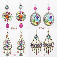Wholesale Mixed women earrings Bohemian style vintage beautiful jewelry LM E165