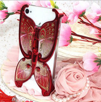 apple sub - Iphone5 phone shell Apple Ms protective sleeve shell sub plated high end luxury Butterfly tide