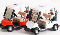 alarms mini golf - Modern Creative Mini Golf car alarm lcd clock Christmas birthday Gift