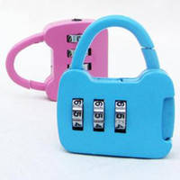 Wholesale Tourism outdoor travel essential metal combination lock luggage lock bicycle lock mailbox lock j