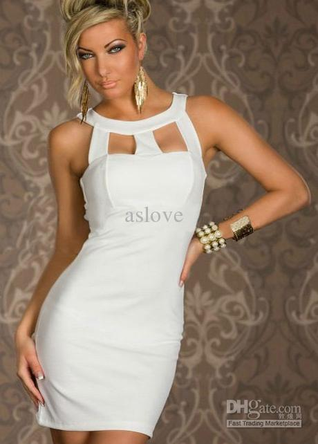 Cheap Tight White Fitted Dresses - Free Shipping Tight White ...