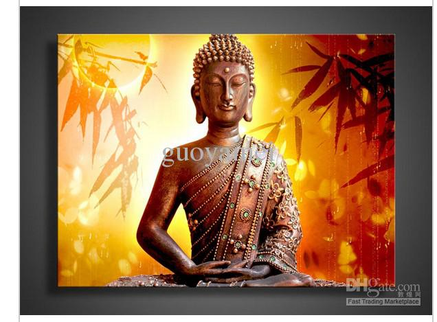 Religion Buddha Wall Art Oil Painting On Canvas Pop Living Room Painting  Oil Painting Online With $59.02/Piece On Guoyameiu0027s Store | DHgate.com Part 12