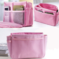 Wholesale 5PCS New Arrival Hot Sale Fashion Korean Girls Womens Nylon Bag Cosmetic Storage Makeup Bags Mul tifunctional Makeup Cosmetic Bag Colors