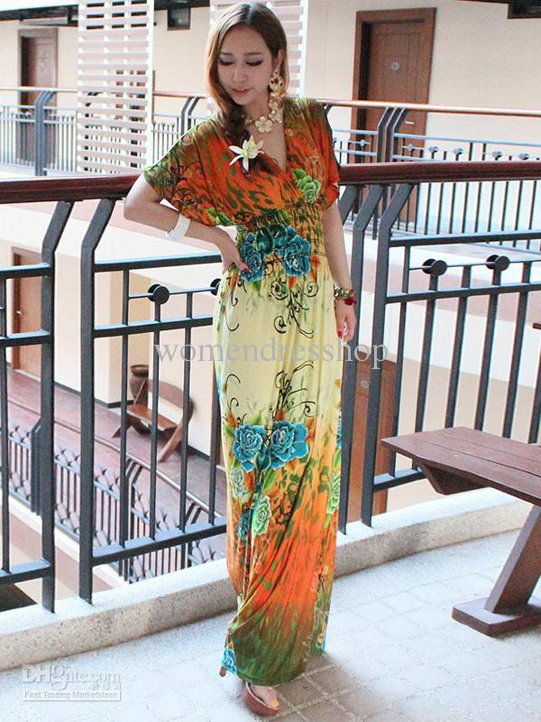 Jersey Maxi Dress Pattern Caftan Jersey Maxi Dress