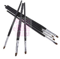 Wholesale Professional French Nail Usage Nail Art Brush Set Gel Brush With Black Color