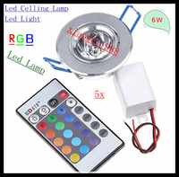 5pcs lot Beautiful Led Lamp 6W RGB Celling Led Light Spotlig...