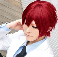 European Wigs apples wigs - Kuroko no Basuke Seijuro Akashi Candy Apple Red Short Straight Cosplay Hair Wig