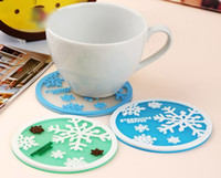 Wholesale Pratical Snowflake Shape Coaster Cup Cushion Mat Pad for Mug Glass Plate pieces