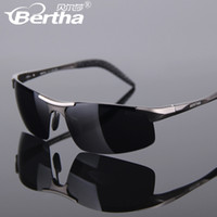 Wholesale Bertha2013 new aluminum alloy special polarized sunglasses driving car driv