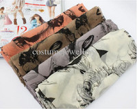 Wholesale New Fashion Vintage Style Sexy Girl Head Charming Marilyn Monroe Scarf Shawl mix color