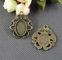 Wholesale Fit MM MM oval and round cameo setting metal blanks jewelry stamping jewelry stamping blanks