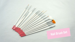 Freeshipping acrylic brush 15pcs professonal Nail Art Set Painting Pen for natural false 3D Beauty