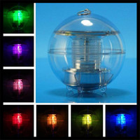 Wholesale New Waterproof Solar Floating Pond Rotat Color Changing Lamp LED Light Lamp Ball