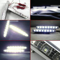 Wholesale 2013 New Cheap Super White LED Universal Car Light Daytime Running auto lamp