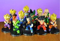 Wholesale Anime Dragon Ball Z quot Deformation Songukou Gogeta Gotenks Action Figure toy set mix style