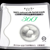 Face age face - Silk Facial Mask Natural Silk Deep L VC Whitening Repair Damaged Injured Skin Delay Ageing g v line Face Mask