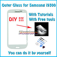 Wholesale Original White Touch Screen Outer Glass Replacement for Samsung Galaxy S3 i9300 Free Tools
