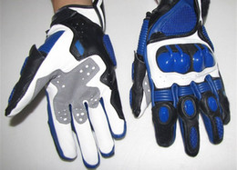 blue hot sell motorcycle Gloves leather moto gloves racing gloves size:M,L,XL