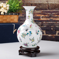 Wholesale Jingdezhen ceramic vase home decoration crafts modern decoration luminous vase furnishings gift