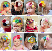 Wholesale BABY AMOUR Nonwoven fabric three color flowers headbands children hairbands