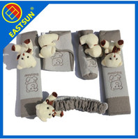 automated cars - EASTSUN Cartoon Bear in Car Decoration Set Handbrake Der Schalthebel Automated Gear Rearview Mirror Seat Safety Belt Cover