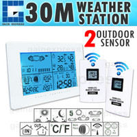 Industrial Temperature Sensor R01AOK-5019_2S R01AOK-5019_2S Wireless Weather Station Indoor Outdoor Thermometer Temperature Humidity w RCC Radio Controlled Clock w 2 Remote Sensor