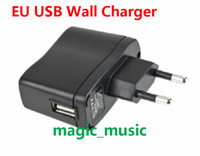 Wholesale 10PCS USB AC Power Supply Wall Adapter Adaptor MP3 Charger EU Plug MP3 MP4