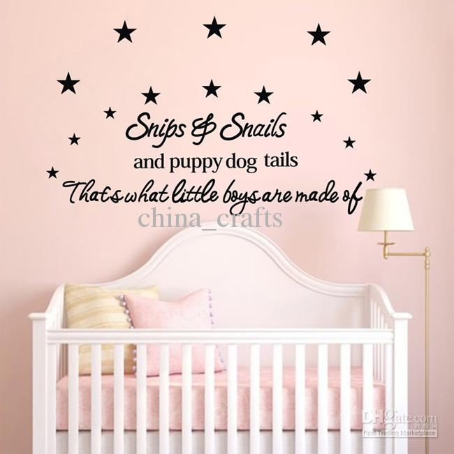 New Listing Baby Room Wall Stickers 50x110cm Childrenu0027s Room Wall Decor Wall  Quotes Decals Wall Art Stickers