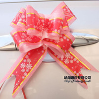 Wholesale high quality cm pull ribbon bow party decoration flower christmas gift wrap bowknot present ornament