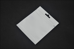 Wholesale 12 cm clear white pearly Zip lock packaging packing bag candy Jewelry gift PVC plastic PP OPP Poly shopping bag