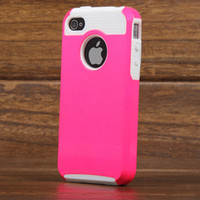 Wholesale Hybrid Cases iPhone S w Screen Protect Rugged Rubber Matte Hard Skin Case Cover For Apple iPhone S Screen Protector Pen J