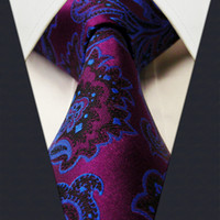 Cheap Neck Tie necktie Best Purple Fashion silk mens tie