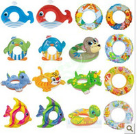 Wholesale Baby Kids Swimming Swim Yellow Duck Trainer Seat Inflatable Boat Ring Pool
